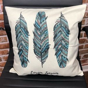 Other - Feather decorative home decor pillow case cover